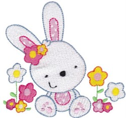 Flower Rabbit embroidery design
