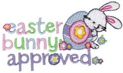 Bunny Approved embroidery design
