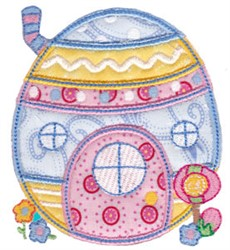 Egg House embroidery design