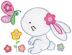 Butterfly Bunny embroidery design