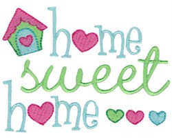 Home Sentiments embroidery design