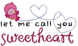 Sweetheart Home Sentiments embroidery design