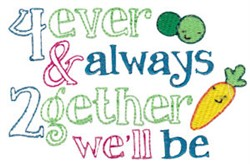 4ever 2gether embroidery design