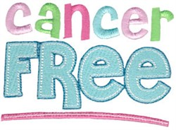 Cancer Free embroidery design