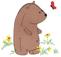 Daisy Bear & Butterfly embroidery design