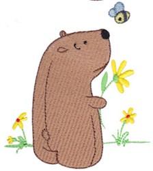 Daisy Bear Bee embroidery design