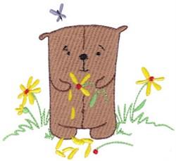 Daisy Bear Petals embroidery design