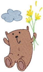 Daisy Bears Leap embroidery design