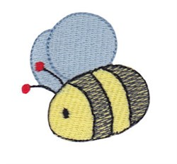 Daisy Bears Bee embroidery design