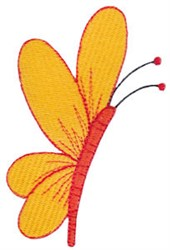 Daisy Bears Butterfly embroidery design