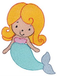 Girls Love Mermaid embroidery design