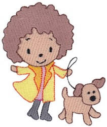 Girls Love Puppies embroidery design