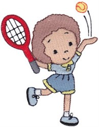 Girls Love Tennis embroidery design