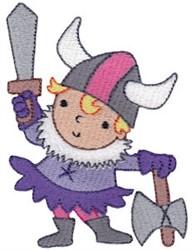 Viking Girl embroidery design