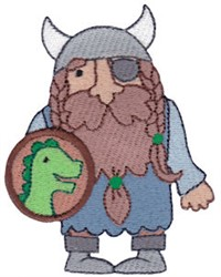 Dinosaur Shield Viking embroidery design