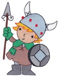 Boy Viking embroidery design