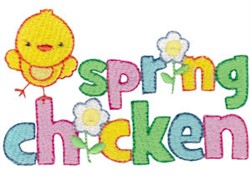 Spring Fever Chicken embroidery design
