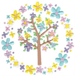 Spring Fever Tree embroidery design