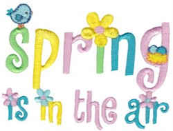 Spring Fever In The Air embroidery design
