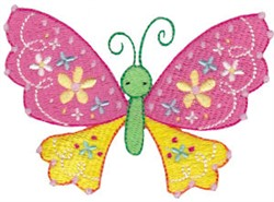 Spring Fever Butterfly embroidery design