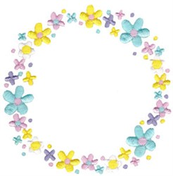 Spring Fever Circle embroidery design