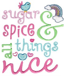 Sugar Spice & All Things Nice embroidery design