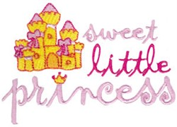 Sweet Little Princess embroidery design