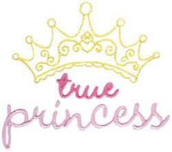 True Princess embroidery design