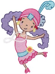 Girl Flapper embroidery design