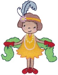 Lady Flapper embroidery design