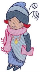 Female Flapper embroidery design