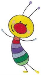 Rainbow Bug embroidery design