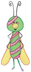 Stripe Butterfly embroidery design