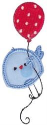 Balloon Bird embroidery design
