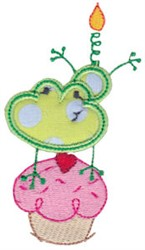 Birthday Frog embroidery design