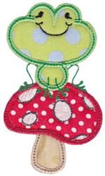 Mushroom Frog embroidery design