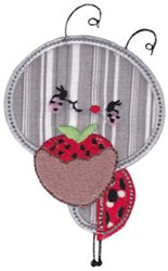 Strawberry Bug embroidery design