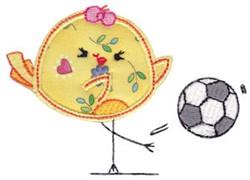 Soccer Bird embroidery design