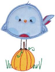Applique Bird embroidery design