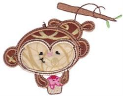 Applique Monkey embroidery design
