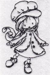 Redwork Kid embroidery design