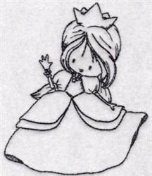 Redwork Princess embroidery design