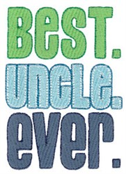 Best Uncle embroidery design