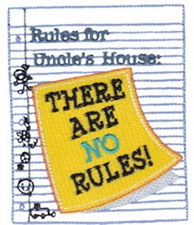 Uncles Rules embroidery design