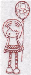 Redwork Teen embroidery design