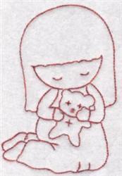 Teddy Bear Kid embroidery design