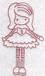 Redwork Child embroidery design