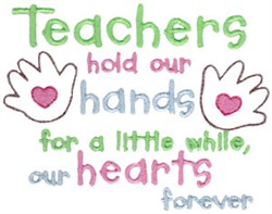Teachers Hold Hands embroidery design