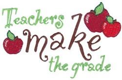Make The Grade embroidery design