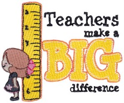 Make A Difference embroidery design